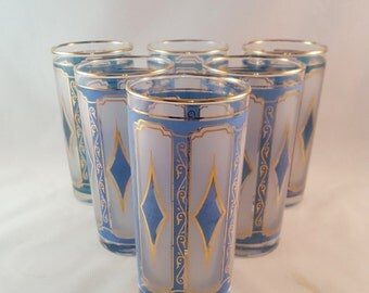 Stained Glass Look Glasses - Set of 6