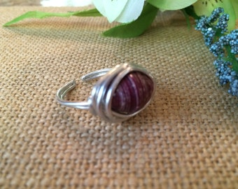 Adjustable Silver Wire Wrapped Ring