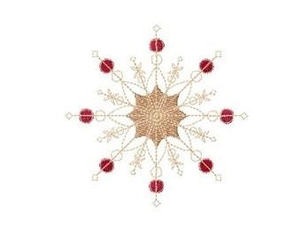 Festive Snowflake 10 Machine Embroidery Design
