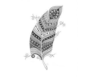 Zendoodle illustration prints by Jackie Isard