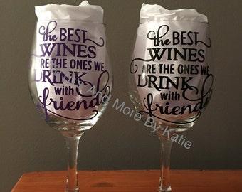 Wine glasses, custom wine glasses, made to order - FREE SHIPPING