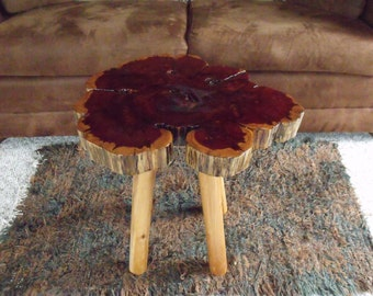 Cedar Table Top - Log Table Top -