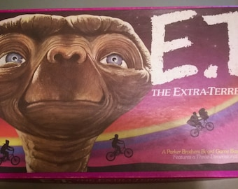 Vintage E.T. the Extra-Terrestrial Board Game  1982, 1980's, eighty's movies