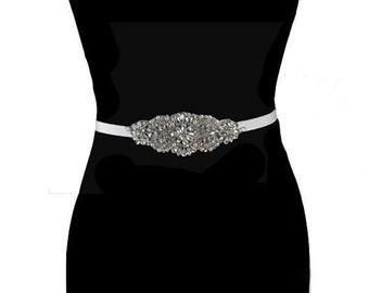 Wedding Gown Sash, Bridal Sashes,  Bridal Gown Sash, Wedding Accessories, Crystal Wedding Belt