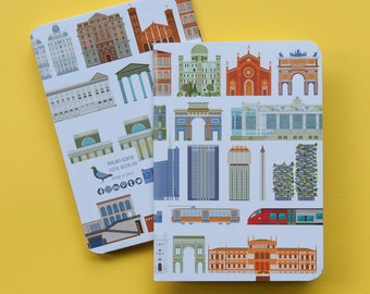 Milan Icons Notebook A6 architecture cover
