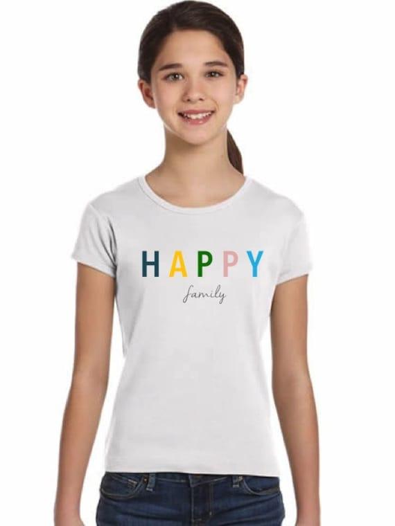Girl t-shirt HAPPY FAMILY