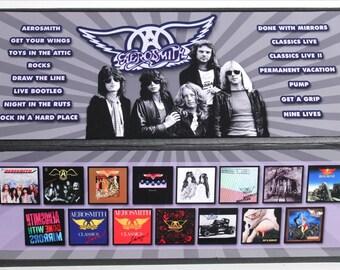 AEROSMITH - Lot of 15 used VG+ / NM cassettes in custom box set