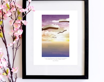 Soaring Through A Sunset Anne of Green Gables Print   A Bookish Poster for Lovers of Anne With An E