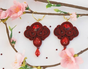 "Handmade Soutache Earrings ""Absolute Valentines"""