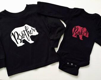 Matching bear shirt/ Sibling shirts/ Bear shirt