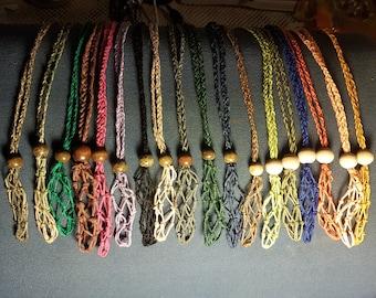 HEMP string crystal pouches