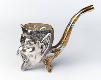 """Silver bowl """"Devil"""""""