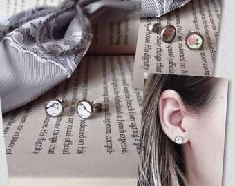 Stay In Earrings (waterproof hypoallergenic non tarnish stainless steel posts)