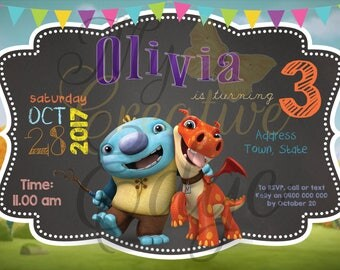 Wallykazam Personalised Invitations - Digital File Only