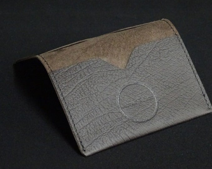Bantam Wallet - Brown Texture - Kangaroo leather with RFID Credit Card Blocking - James Watson