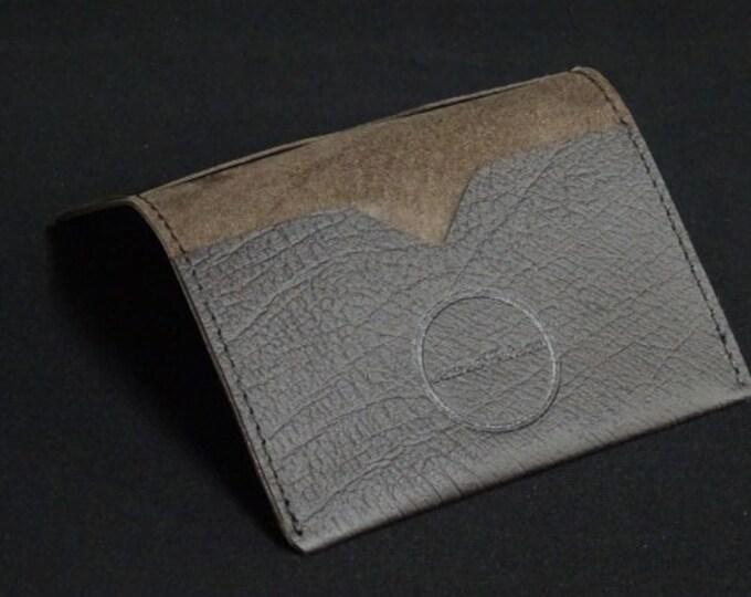 Bantam Wallet - Brown Texture - Kangaroo leather with RFID Credit Card Blocking - James Watson