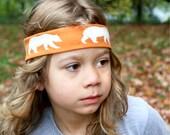 Boy Headband /  Bear Organic Fabric Headband for Boys / Boy Hairband / Gifts for Boys / Toddler Headband / Kid Headband Boy Band / Bandana