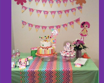 Lalaloopsy Party Decorations-Editable!