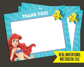 Little Mermaid Thank You Cards - Ariel Thank You Cards