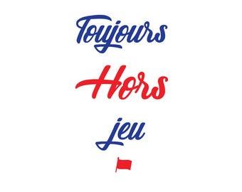 Hors-jeu, woman & man shirt