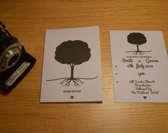 Tree Wedding Invitation.