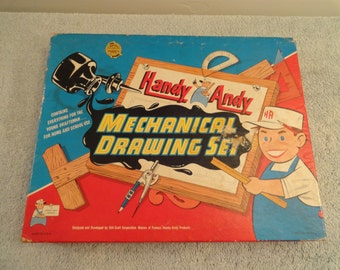 Vintage Handy Andy Mechanical Drawing Set Number MD-1