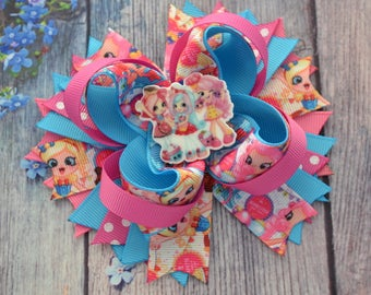 Shopkins hair bows Shopkins birthday party Shopkins birthday gift Baby girl headband Gift for sister Shopkins hair clip Hair band for babies