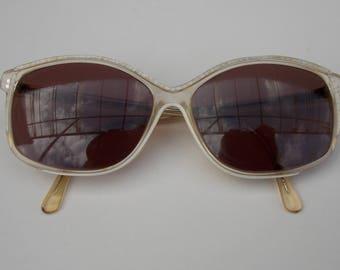 APOLLO sunglasses, Movie star sunglasses, retro sunglasses, vintage sunglasses, brown lens, white frame, germany sunglasses 152