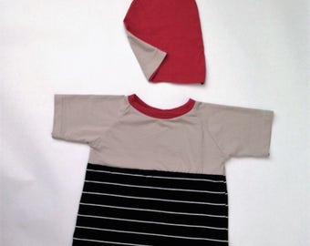 2T Raglan Colorblock Shirt and Two Toned Beanie Hat