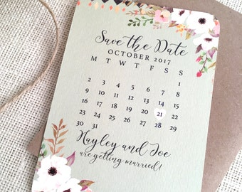 Floral Mint Save the Date - SAMPLE