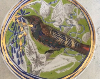 Beautiful spring bird side plate