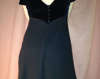 90s black velvet party dress SIZE 8
