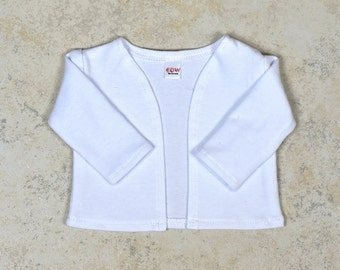 18 inch doll cardigan Color  White 18 inch doll clothes