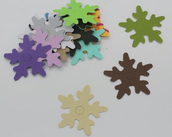 Snowflake Christmas: set of die - cut cut-outs