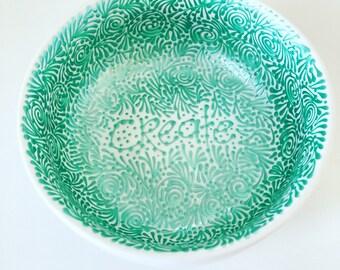 "CREATE 3.5"" Trinket Dish (pearlized aqua)"