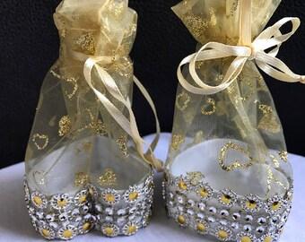 Heartshaped  Moroccan Organza Wedding Favours