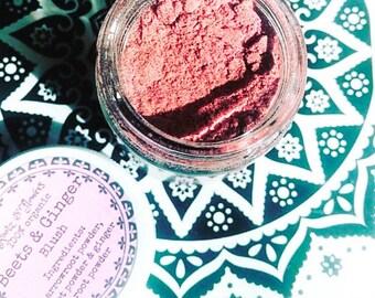 Beets & Ginger Blush, organic makeup, organic blush, organic, blush, pink blush, rosy cheeks, makeup, blush powder