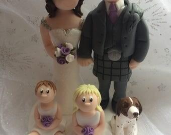 Personalised Custom Made Bride and Groom Wedding Cake Topper
