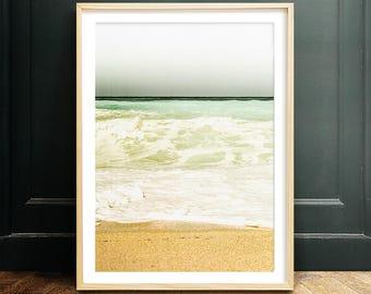 Beach print, PRINTABLE art, Textured art, nature print, coastal decor, beach printable, aqua art print,turquoise, beach waves, ocean art