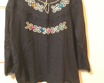 Medium  to large Mexican blouse