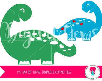 Dinosaur SVG / DXF Cutting Files For Cricut Design Space / Silhouette Studio & PNG Clipart, Digital Download, Commercial Use Ok