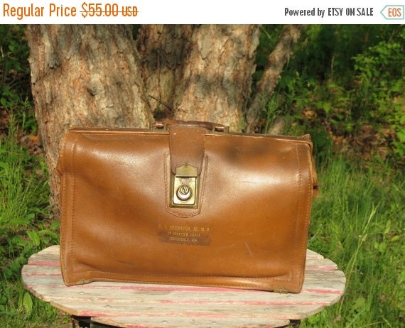Football Days Sale Price Reduced! Vintage Dopp Bilt Brown Leather Doctor's  Bag Briefcase With Operational Lock & Key-Circa 1940 or 1950