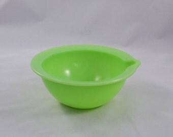 Vintage McKee Jadeite Kitchen Bowl With A Spout