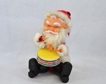 Vintage Wind Up Santa, Drummer Santa By Yuletide From 1978 Made In Korea