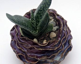 Ceramic Pot, Artichoke Ceramic Pot, Organic Design, Handmade Ceramic Art, Ceramic Decor, Home Decor