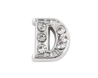 Alphabet Letter Initial D Floating Charms