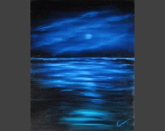 """BLUE OCEAN, 16x20"""" oil painting"""