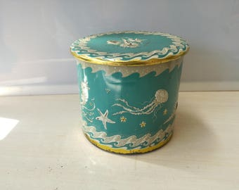 Sea banquet tin, vintage