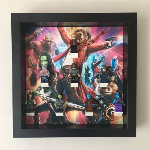 Guardians Of The Galaxy 9PC Minifigure Frame, Mum, Gift, Geek, Box, Personalised, Dad, Idea, Birthday, Anniversary, For Him, Lego, Comic