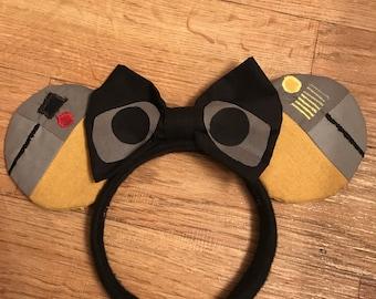 Wall-E Disney Ears, Wall-E Mickey Ears, Disney Inspired Ears